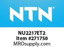 NTN NU2217ET2 CYLINDRICAL ROLLER BRG