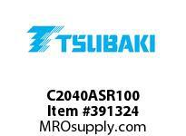 "US Tsubaki C2040ASR100 C2040AS """"""600"""""""" RIV. 100FT"""
