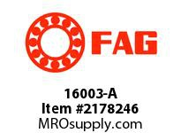 FAG 16003-A RADIAL DEEP GROOVE BALL BEARINGS