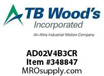 TBWOODS AD02V4B3CR AD2 2HP 460V CHAS WITH KEYPAD