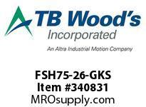 TBWOODS FSH75-26-GKS CPLG FSH75 JGK SHT F=7 STL HUB