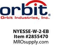 Orbit NYESSE-W-2-EB LED NY SURF EDGE-LIT EXIT SIGN WHT TRM2F BAT B-UP