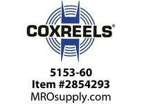 """COXREELS 5153-60  Low Pressure Hose, 3/8"""" X 60', PVC"""