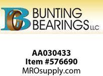 BUNTING AA030433 1/4 X 3/8 X 1- 1/8 SAE841 Std Plain Bearing