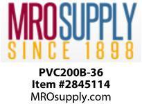 """MRO OPEN ENDS BY WIDTH MATERIAL:PVC200 BLACK C x FS WIDTH: 36"""""""