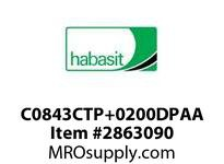 "Habasit C0843CTP+0200DPAA 843 Chamfer Top Plate 2"" Acetal"