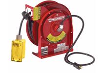 Reelcraft L 4545 123 7A Cord Reel Duplex GFCI QS1 45ft 12 AWG/3 Cond 20 AM