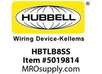 HBL_WDK HBTLB8SS WBACCSWALLBRKTLSHAPE8^TRAY304 SS
