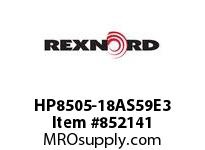 REXNORD HP8505-18AS59E3 HP8505-18 3AS-T59P HP8505 18 INCH WIDE MATTOP CHAIN WI