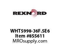 REXNORD WHT5998-36F.5E6 WHT5998-36 F.5 T6P WHT5998 36 INCH WIDE MATTOP CHAIN W
