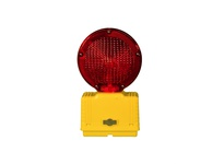 Cortina 03-10-3WRYDC LED Red Bi-Directional w/photocell 3-Way Switch Yellow Housing/Base [uses (4)D-Cell Batteries (not included)]