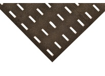 NoTrax 422S0034BL 422 Cushion-Dek w/Grip-Step 3X4 Black Cushion-DekTM w/ Grip - Step is a durable vinyl compound with drainage slots and a thick gritted layer for extra traction. Anti-Slip 7/16^ Thick Vinyl