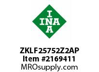 INA ZKLF25752Z2AP Ball screw support bearing