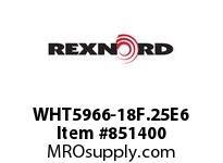 REXNORD WHT5966-18F.25E6 WHT5966-18 F.25 T6P N0 WHT5966 18 INCH WIDE MATTOP CHAIN W