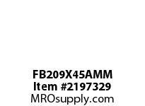 PTI FB209X45AMM 3-BOLT FLANGED BRACKET BEARING-45MM FB 200 GOLD SERIES - NORMAL DUTY -