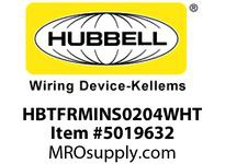 HBL_WDK HBTFRMINS0204WHT WBACCSINSERT2^Hx4^Wx120^LPLYMER WHT