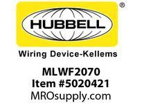 HBL_WDK MLWF2070 4X PSDA 2-G 20A 125/250V TWIST-LOCK