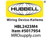 HBL_WDK HBL2423M4 LKG CONN 20A 3P 250V L15-20 BK CC BLK