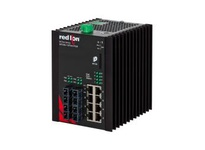 NT24K-12FX4-ST 12-Port Gigabit Managed Industrial Ethernet Switch (8 10/100/1000BaseT 4 100BaseFX multimode ST