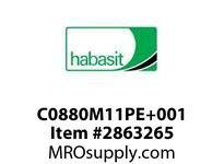 Habasit C0880M11PE+001 880 11T Machined Solid White UHMW - MPB