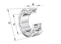 FAG 23968K.MB DOUBLE ROW SPHERICAL ROLLER BEARING