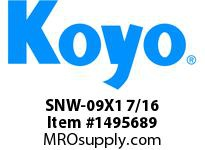 Koyo Bearing SNW-09X1 7/16 SPHERICAL BEARING ACCESSORIES