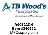 TBWOODS A00322C-6 A00322C-6 7S T-SF CPLG
