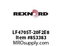 REXNORD LF4705T-20F2E8 LF4705-20 F2 T8P N.75 TAB LF4705-20^ MATTOP CHAIN WITH A F2.0