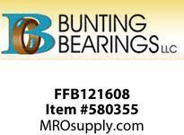 BUNTING FFB121608 3/4 X 1 X1 X1- 1/4 X5/32 SAE841 Standard Flange Bearing