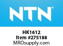 NTN HK1612 DRAWN CUP NRB(CAGE TYPE)