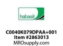 Habasit C0040K079DPAA+001 40P .79 Acetal White