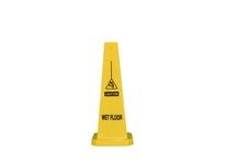 """Cortina 03-600-12WF 25"""" Yellow Lamba Cone - Caution Wet Floor"""