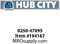 HUBCITY 0250-47095 HW2073ID 310.02 .50HP HELICAL-WORM DRIVE