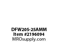 PTI DFW205-25AMM 3-BOLT FLANGE BEARING-25MM DFW 200 SILVER SERIES - NORMAL DUTY