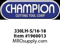 Champion 330LH-5/16-18 CARBON LEFT HAND HEX DIE