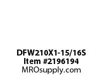 PTI DFW210X1-15/16S 3-BOLT FLANGE BEARING-1-15/16 DFW 200 GOLD SERIES - NORMAL DUTY -