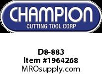 Champion D8-883 CARB TIP POINTED NOSE TOOL
