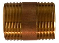 MRO 40166 2 X 5 RED BRASS NIPPLE