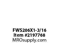 PTI FWS206X1-3/16 4-BOLT FLANGE BEARING-1-3/16 FWS 200 GOLD SERIES - NORMAL DUTY -