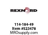 REXNORD 114-184-49 KU820-25T 7/8 KW 2SS NYL 141898