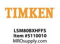 TIMKEN LSM80BXHFFS Split CRB Housed Unit Assembly