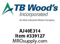 TBWOODS AJ40E314 AJ40-EX3 1/4 FF COUP HUB