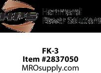 HPS FK-3 FUSE KIT 2REJ PRI MIDGET SEC Machine Tool Encapsulated Control Transformers