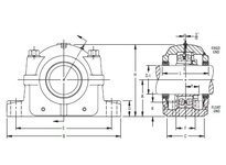 TIMKEN FSAF 22617 X 3 SRB Pillow Block Assembly