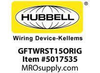 HBL_WDK GFTWRST15ORIG 15A COM TRWR ST ISO GR GFR ORANGE