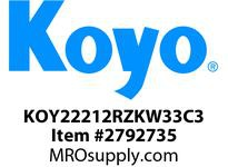Koyo Bearing 22212RZKW33C3 SPHERICAL ROLLER BEARING