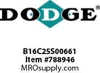 DODGE B16C25S00661 BB1683 250-CC 6.61 4-3/8 S SHFT
