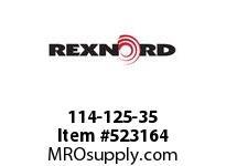 REXNORD 114-125-35 843K2 U TP NAT. HYTREL 6284791