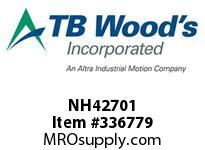 TBWOODS NH42701 NH4270X1 FHP SHEAVE