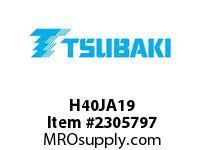 US Tsubaki H40JA19 HT Cross Reference H40JA19 QD SPROCKET HT